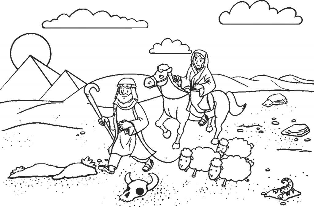 Abrahams Vertrauen auf Gottes Treue: Er zieht mit Sara und einigen Schafen durch die gefährliche Wüste in Richtung Ägypten