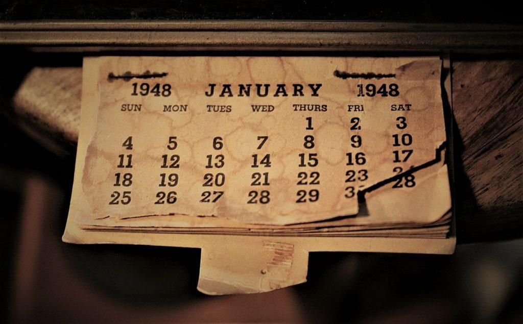 Erkenntnis durch Zählen unserer Tage: Ein altes Kalenderblatt vom Januar 1948