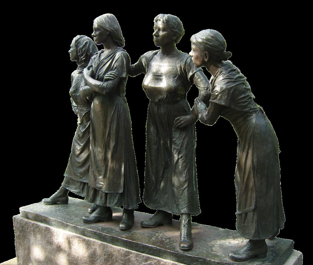 Selbstbewusste Frauen: Skulpturen in Oslo - vier Frauen, die selbstbewusst wirken