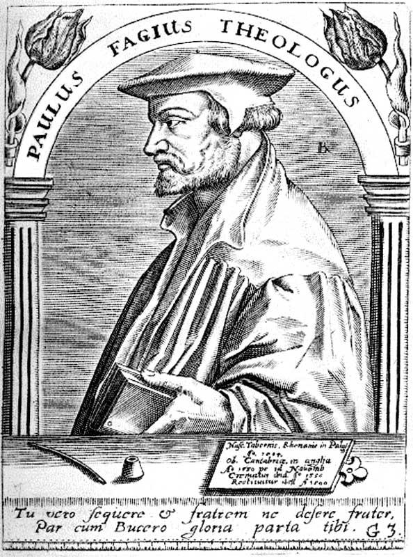 Der Reformator Paul Fagius, Kupferstich 17. Jahrhundert