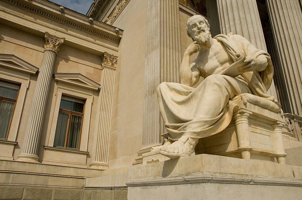 Statue des Historikers Herodot aus der griechischen Antike
