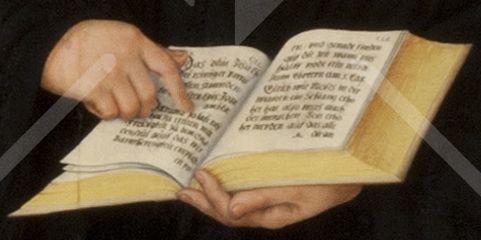Die aufgeschlagene Bibel Martin Luthers