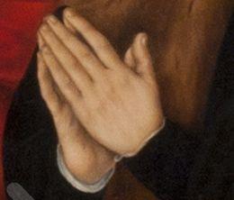 Die zum Beten zusammengelegten Hände des Malers Lucach Cranach.